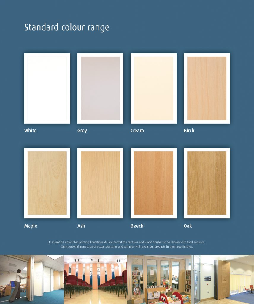 Colour Range Of Moving Partitions and Concertina Walls