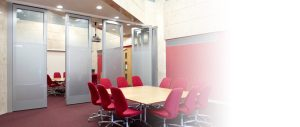 Movable Walls in an Office Meeting Room