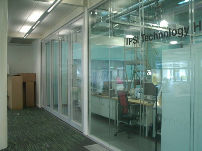 Closed Glass Wall Partition