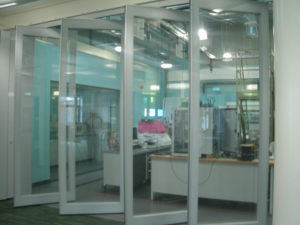 Partly Open Glass Partition