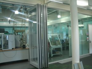 Glass Sliding Wall in HPS Technology Hall