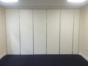 Sliding Wall partitions Closed