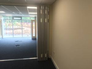 Size of Sliding Walls once opened to create one big office
