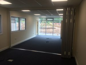 Sliding Walls separating two small offices