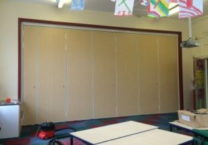 Image Showing Sliding Walls in Staffordshire School