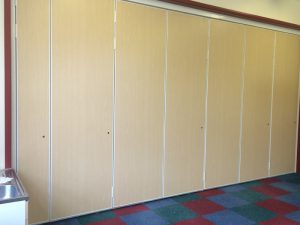 Wooden Sliding Walls Closed