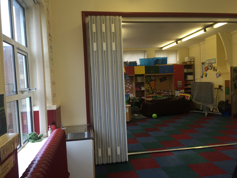 School Storage Room Sliding Wall Partition