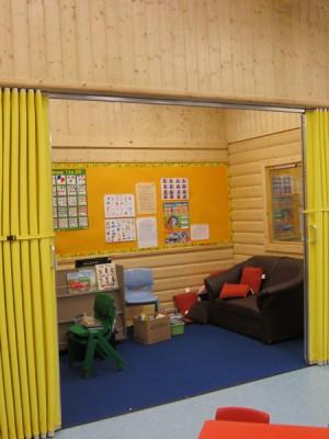 Concertina Walls In School