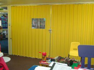 Closed Cocertina Walls In School