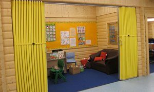 An Image Of Concertina Walls In School