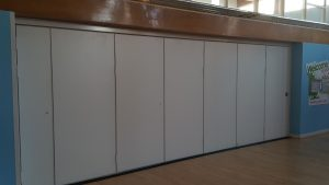 Closed Sliding Wall in School Hall