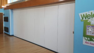 Sliding Wall in School Hall