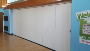 Sliding Wall in School Hall