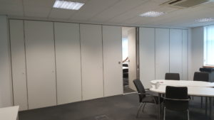 Sliding Walls Partition Opened
