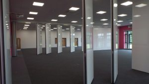 Open Movable Walls in Large Room
