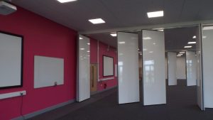 Opening half of the Movable Walls in the Classroom