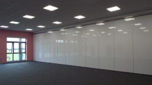 classroom movable wall fully closed