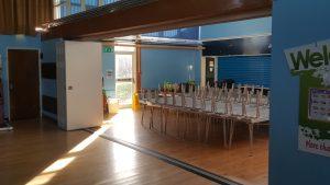 School hall teachwall 200 fully open