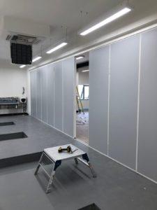Teachwall 200 in gym with door open