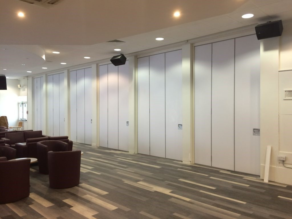 Closed Movable Walls in Sitting Area