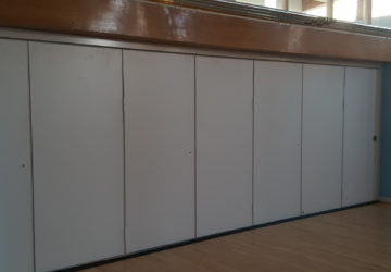 Closed White Acoustic Sliding Partition