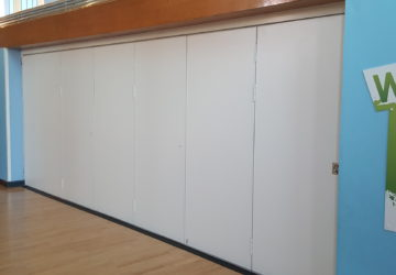 White Acoustic Sliding Partition