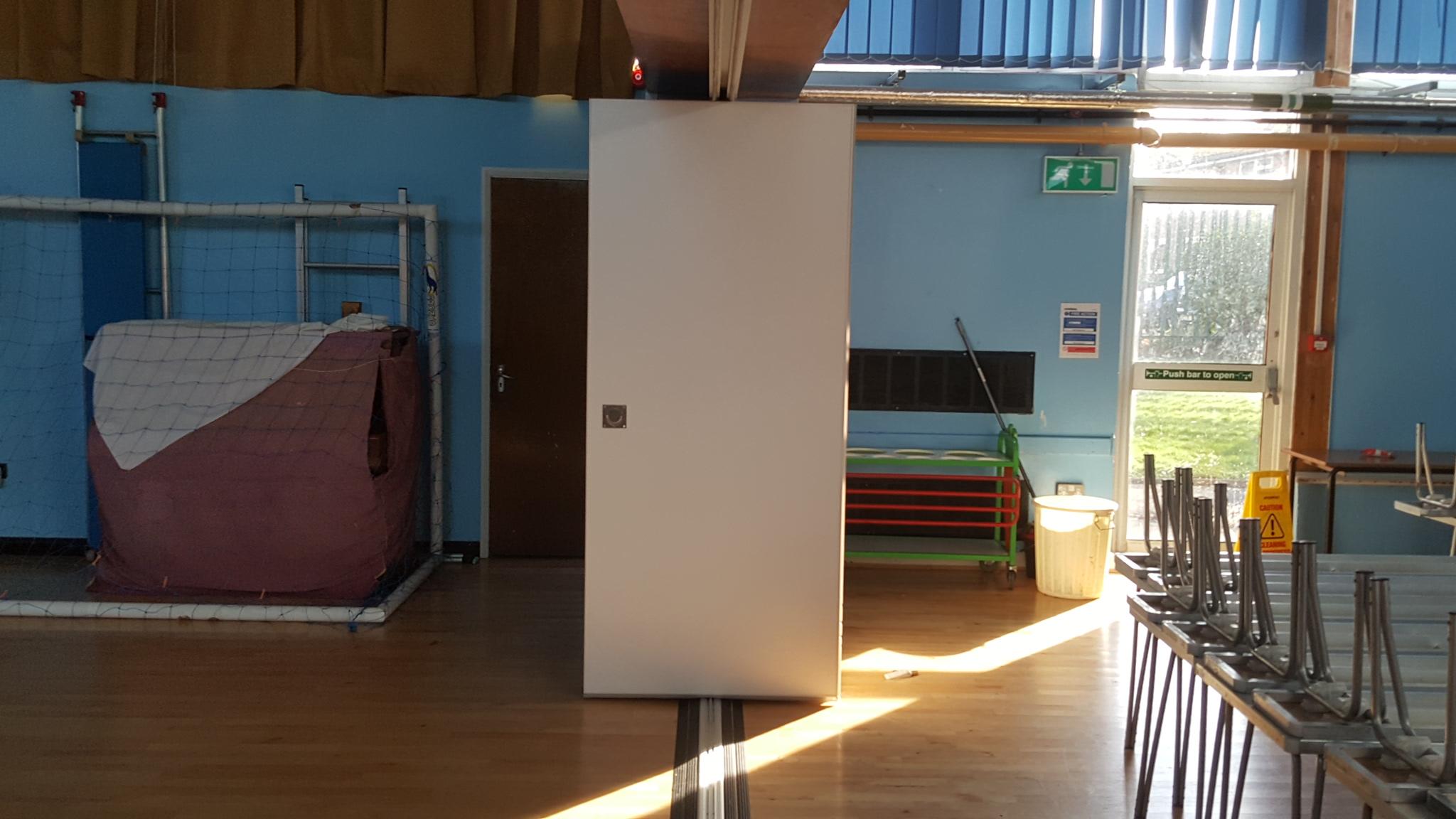 School Gym Sliding Wall