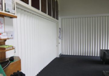 White Concertina Walls in an office