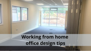 Working from home office design tips