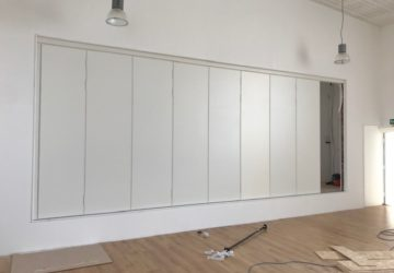 Sliding Wall Installation nearly complete