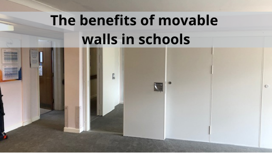 What is the role of movable walls in schools?
