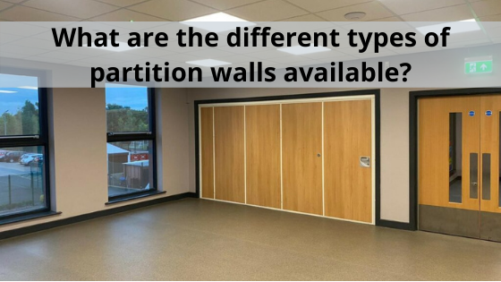 What are the different types of partition walls available at AEG Partitions?